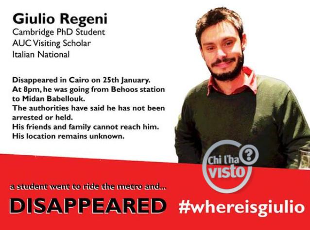 Egitto: trovato morto lo studente scomparso al Cairo | News.Leonardo.it